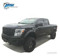 Paintable Pop-Out Bolt Fender Flares Fits Nissan Titan XD 2016-2020 Full Set