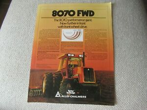 Allis-Chalmers 8070 FWD tractor specification sheet brochure