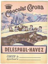 protège-cahier ancien Chocolat Corona