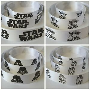 Star Wars Ribbon 25mm Wide Ribbon Available in 4 Designs & various Lengths