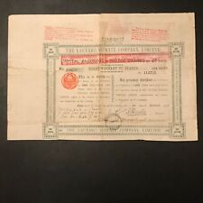"""ACTION """"The Lautaro Nitrate Company"""" 5 livres sterling - 1923"""