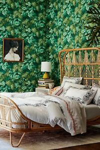 Anthropologie Embroidered Petunia Duvet Cover King