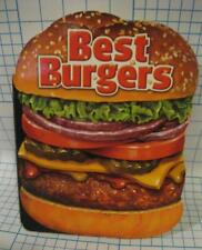 Best Burgers Hamburger Shaped Board Cookbook by Publications International 2005