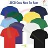 6 PACK ZECO Kids Crew Neck T-shirt Short Sleeve Heavy Cotton TShirt Casual Tee