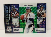2020 Mosaic Denver Broncos John Elway , Davis Green Prizm Flea Flicker Card