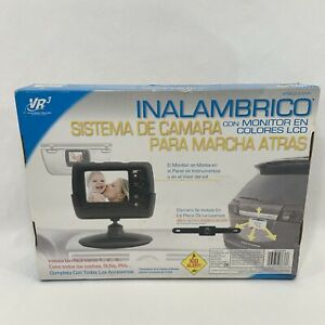VR3 Wireless Back-Up Camera System Color LCD Monitor English Spanish Instruction