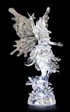 Acrylglas Feen Figur LED - Sabira mit Schmetterling - Fantasy Elfen Feendeko