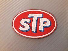 Patch STP logo auto moto ricamo 8cm x 5cm