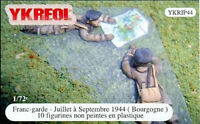 YKREOL 1/72 YKRIP44 WWII French Infantry Burgundy1944 !
