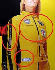 FANCY DRESS HALLOWEEN PARTY MOVIE COSTUME KILL BILL 5PATCH SET FOR YOUR JUMPSUIT