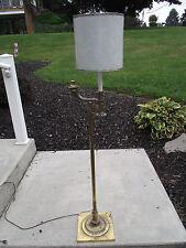 rare hubbell antique brass lamp art deco