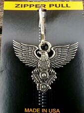Deluxe Eagle V-Twin Zipper Pull fits Harley-Davidson Motorclothes Jacket Rider