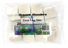 20 CURED REEF TILES FOR LIVE CORAL FRAG PROPAGATION by OCEANS WONDERS