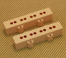 PC-0953-028 Pickup Cover Set for USA Neck & Bridge Jazz Bass Cream