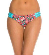 NEW Profile Blush Shangri-La Shirred Side Tab Swim Bikini Bottom M Z501-331P