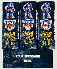 Transformers Personalised Chocolate Bars Birthday Party Bag Fillers, Pack Of 6