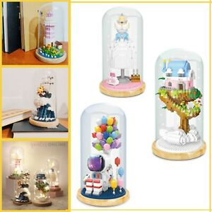 Cute Mini 3D Model Mix Building Micro Blocks Display Box Toy With LED Light