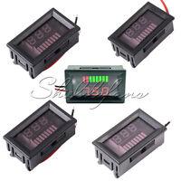 6/12V/24V/36V/48V Charge Level Indicator Voltmeter Lithium/Lead-acid Battery