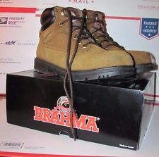 Men's 9W Brahma Brown Suede Waterproof Oil-Resistant Work Boots 605388015174
