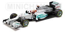 MINICHAMPS 110 120207 MERCEDES AMG F1 M Schumacher 3rd European GP 2012 1:18th