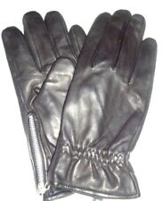 Men's Motorcycle Zip Cuff Genuine Leather  Gloves,Black,Large