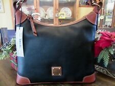 Dooney & Bourke Leather Black Hobo Shoulder Bag Purse R924bl