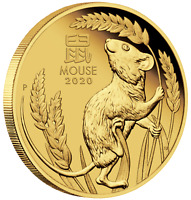 2020 Australian Lunar Year of the Mouse 1/10 oz Gold Proof $15 Coin NEW Series-3