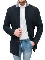 Cappotto uomo Diamond invernale nero trench giacca slim fit aderente da S a XXL