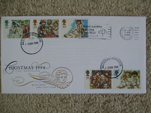 1994 CHRISTMAS GPO FIRST DAY COVER, PLEASE CONTROL YOUR DOG SLOGAN PMK