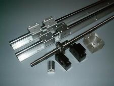 SBR20-2600mm 2 linear rail+ball screw RM2005-2200mm+1set BKBF15 end+nut housing