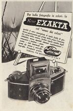 Z3706 Macchina fotografica EXAKTA - Pubblicità d'epoca - 1940 old advertising