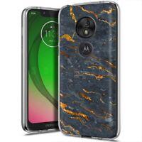 Thin Gel Phone Case for Motorola G7 Play/Power/Plus,Marble 19 Pattern Print