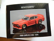 1:18 Scale Ford Capri RS 3100 Client Car  (Red)  by Minichamps
