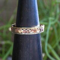 Woven Copper Brass Silver Healing Cuff Bracelet Jewelry Taxco Mexico
