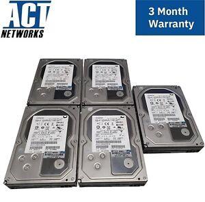 Lot of 5 HITACHI 2TB SAS 7.2K 3.5 HUS723020ALS640 w/ No Caddy Repurpose 3PAR HDD