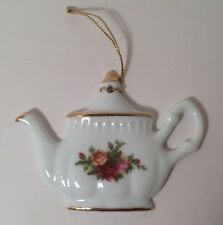 1998 Royal Albert Royal Doulton Old Country Roses Teapot Collectible Ornament