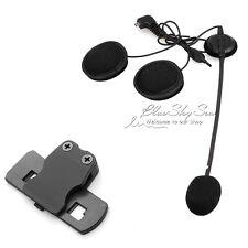 Earpiece Microphone+Clip For BT-S1 Bluetooth 1000m Intercom Helmet Headset F1