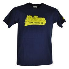 NCAA Michigan Wolverines Youth Adidas Cotton Short Sleeve Tshirt Tee Navy Blue