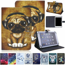 """Universal Folding Case For 7"""" 8"""" 10"""" inch Tab Cover Patterns PU Leather Stand US"""