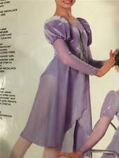 Dance Costume Lyrical Ballet  Pageant  dress medium child Art Stone lilac