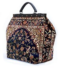 LARGE VICTORIAN-STYLE MARY POPPINS CARPET BAG.
