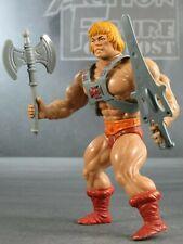 HE-MAN 1982 Masters Universe NEAR COMPLETE Action Figure Armor Sword & Ax MOTU