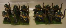 GW WFB Warhammer Fantasy Waldelfen 12 Waldläufer Plastik & Zinn Miniaturen