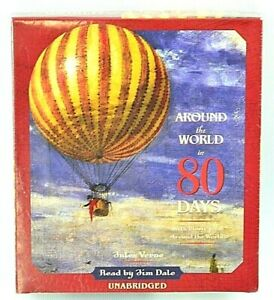 Around the World in 80 Days by Jules Verne Audiobook ~ Read by Jim Dale  NEW
