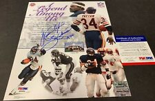 Walter Payton Chicago Bears Autographed Signed 8x10 PSA DNA COA