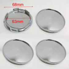 4x 68mm Chrome Silver Car Wheel Center Hub Caps Covers Set No Logo Accessories