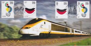 GB STAMPS CHANNEL TUNNEL FIRST DAY COVER 2004 EUROSTAR DOUBLED
