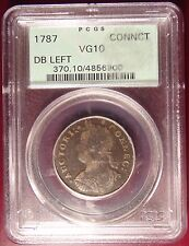 Rare 1787 Connecticut Half Penny PCGS VG10 Green Label!