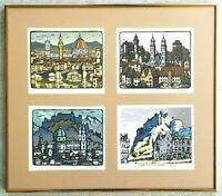 Listed Artist KEN LAW (1918-1988) 4-Limited Edition Signed #ED Serigraphs RARE!