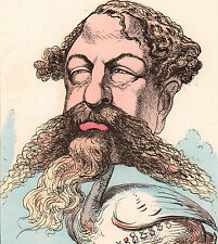 Caricature Maréchal Edmond Le Bœuf Napoléon III Second Empire Paul Hadol 1870